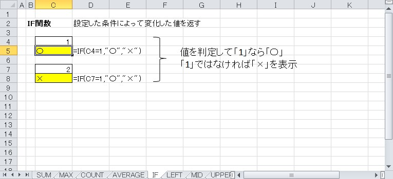IF関数を使って判定結果を表示
